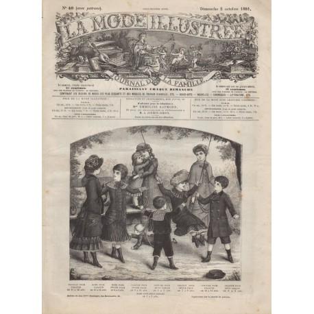 Complete magazine La Mode Illustrée 1881 N°40