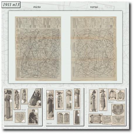 Patrons de La Mode Illustrée 1911 N°13