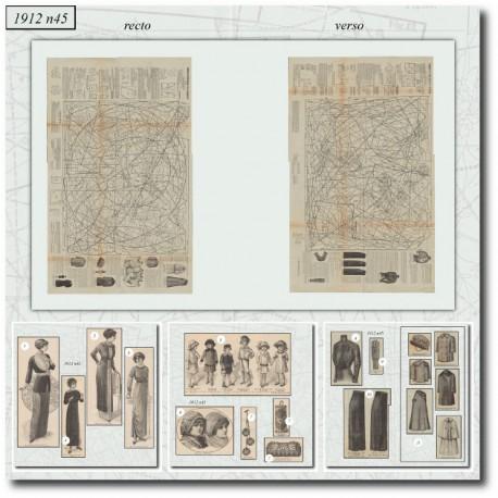 Patrons de La Mode Illustrée 1912 N°45