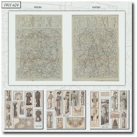 Sewing patterns La Mode Illustrée 1911 N°24