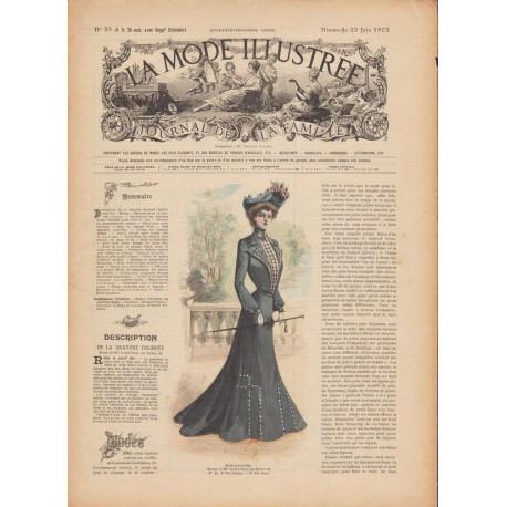 Complete magazine La Mode Illustrée 1902 N°25