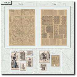 vykrojku La Mode Illustrée 1898 N°03