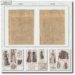 Patrons de La Mode Illustrée 1898 N°05