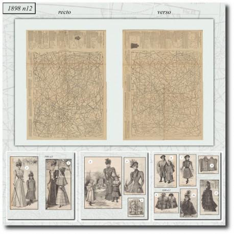 Sewing patterns La Mode Illustrée 1898 N°12