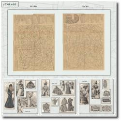 vykrojku La Mode Illustrée 1898 N°16
