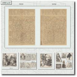 vykrojku La Mode Illustrée 1898 N°18