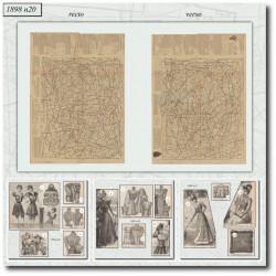 vykrojku La Mode Illustrée 1898 N°20