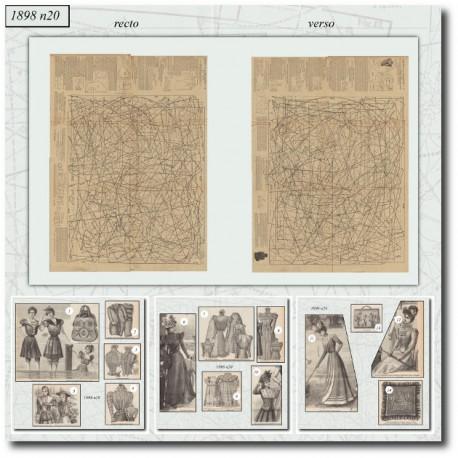 Sewing patterns La Mode Illustrée 1898 N°20