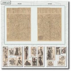 vykrojku La Mode Illustrée 1898 N°23
