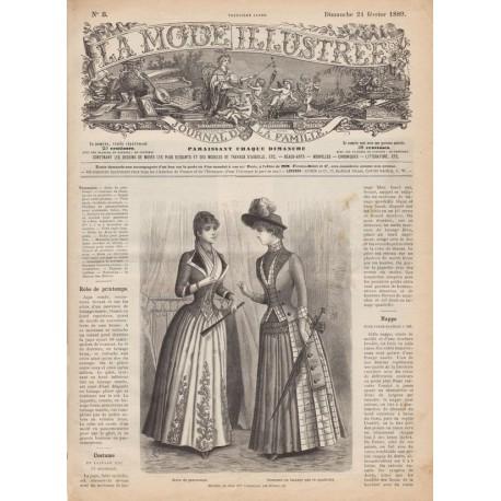 Complete magazine La Mode Illustrée 1889 N°08