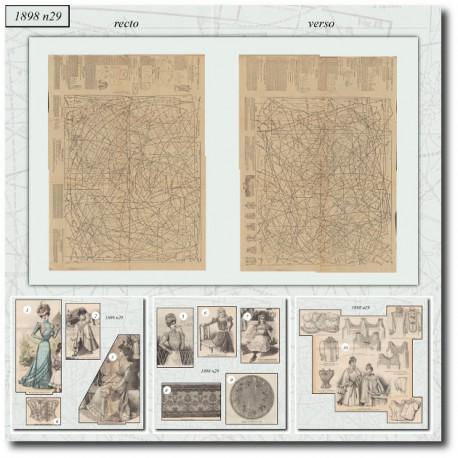 Patrons de La Mode Illustrée 1898 N°29