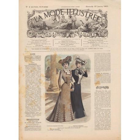 Complete magazine La Mode Illustrée 1901 N°04