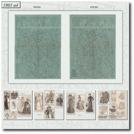 Patrons de La Mode Illustrée 1901 N°04
