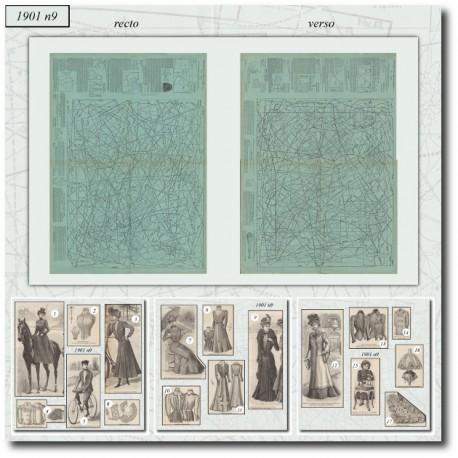 Patrons de La Mode Illustrée 1901 N°09
