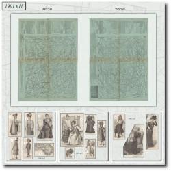 Patrons de La Mode Illustrée 1901 N°11