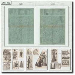 vykrojku La Mode Illustrée 1901 N°13