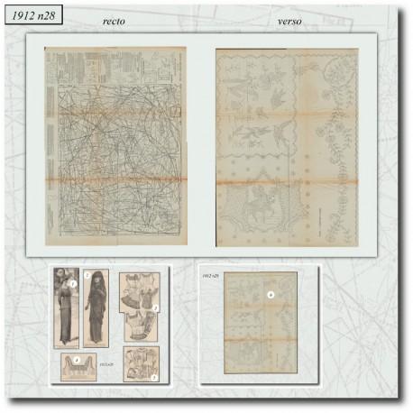 Sewing patterns La Mode Illustrée 1912 N°28