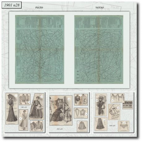 Sewing patterns La Mode Illustrée 1901 N°28