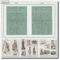 vykrojku La Mode Illustrée 1901 N°34