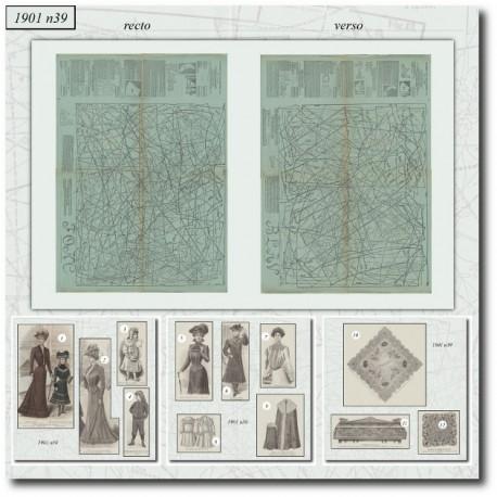 Sewing patterns La Mode Illustrée 1901 N°39