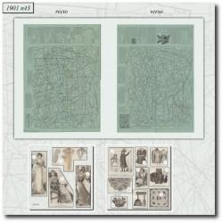 Sewing patterns La Mode Illustrée 1901 N°43