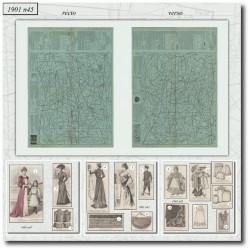 Sewing patterns La Mode Illustrée 1901 N°45