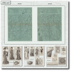 Sewing patterns La Mode Illustrée 1901 N°47