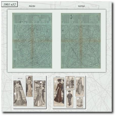 Sewing patterns La Mode Illustrée 1901 N°52