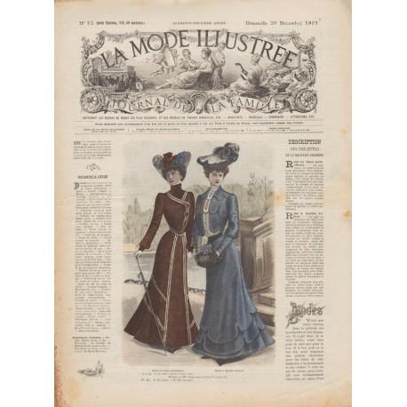 журнал мода La Mode Illustrée 1901 N°52