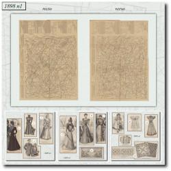 vykrojku La Mode Illustrée 1898 N°01