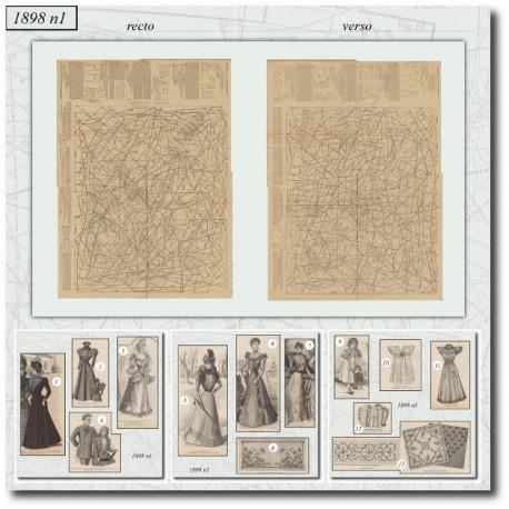 Sewing patterns La Mode Illustrée 1898 N°01