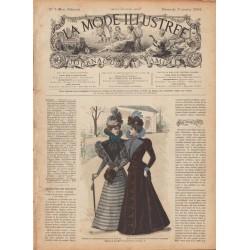 журнал мода La Mode Illustrée 1898 N°01