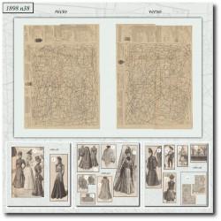 Patrons de La Mode Illustrée 1898 N°38