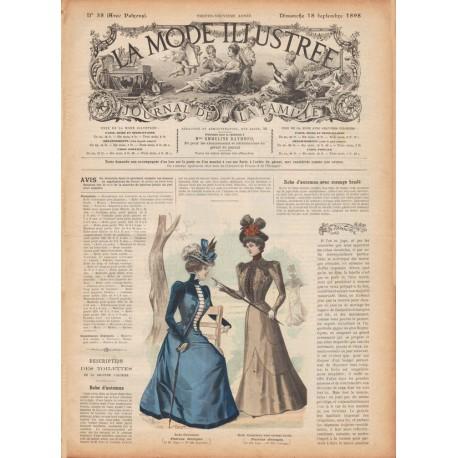 Complete magazine La Mode Illustrée 1898 N°38