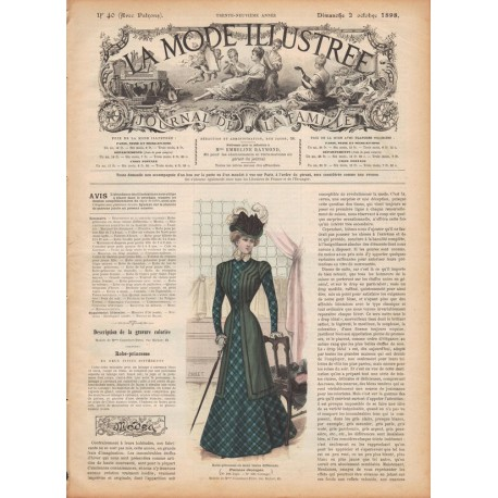 Victorian dress with sewing patterns 1898 N°40