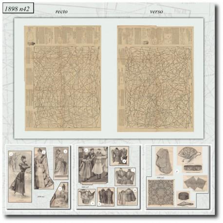 Patrons de La Mode Illustrée 1898 N°42