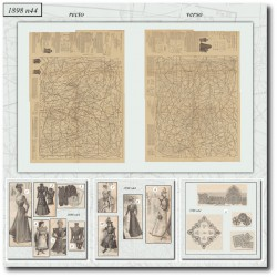 Sewing patterns La Mode Illustrée 1898 N°44