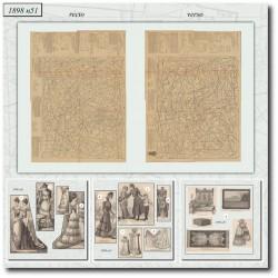 vykrojku La Mode Illustrée 1898 N°51
