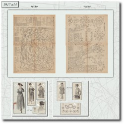 vykrojku La Mode Illustrée 1917 N°14