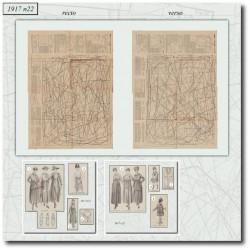 Patrons de La Mode Illustrée 1917 N°22