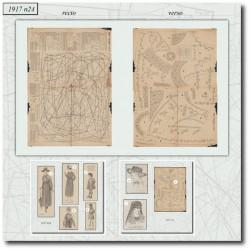vykrojku La Mode Illustrée 1917 N°24