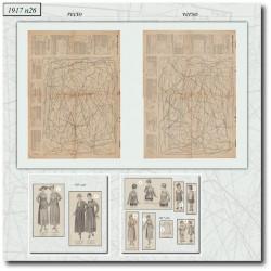 vykrojku La Mode Illustrée 1917 N°26