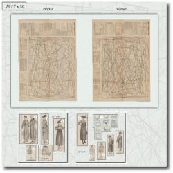 vykrojku La Mode Illustrée 1917 N°30