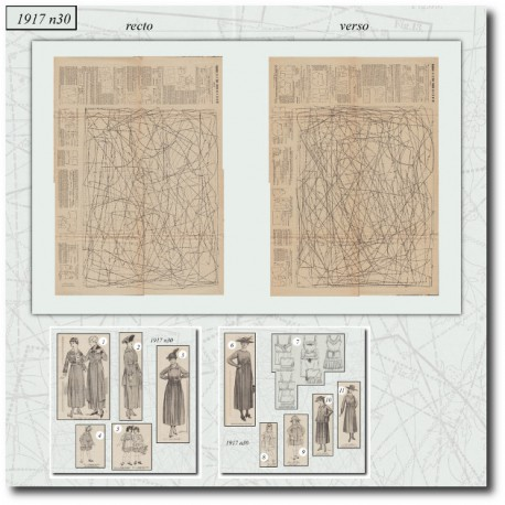Digital sewing patterns underwear 1917 N°30