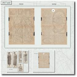 Patrons de blouse 1917 N°44