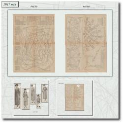 vykrojku La Mode Illustrée 1917 N°48