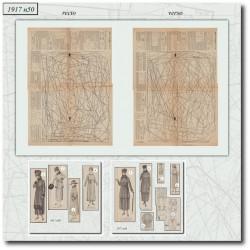 Patrons de robe et lingerie 1917 N°50