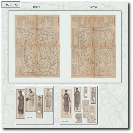Digital sewing patterns underwear and dresses 1917 N°50