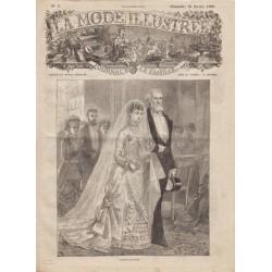 журнал мода La Mode Illustrée 1880 N°07