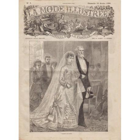 Complete magazine La Mode Illustrée 1880 N°07
